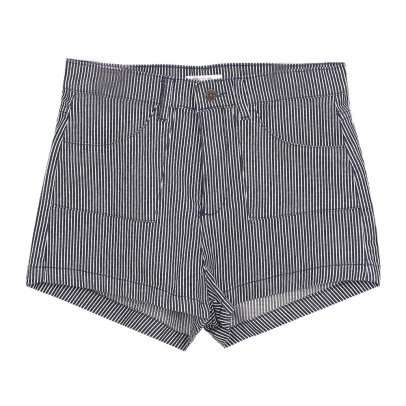 Emile et Ida Striped Denim Shorts - Women's Collection-listing