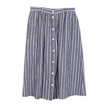 Emile et Ida Buttoned Stripe Skirt - Women's Collection-listing