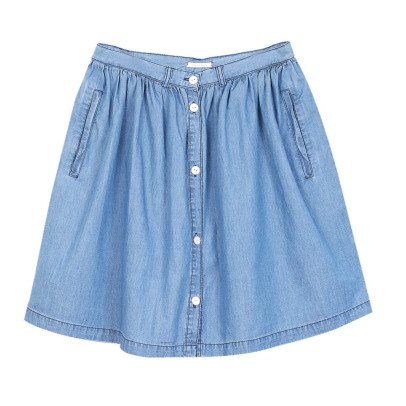 Emile et Ida Buttoned Chambray Skirt - Women's Collection-listing