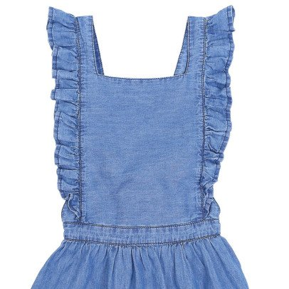 Emile et Ida Robe Tablier Chambray-product