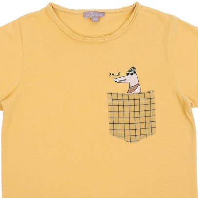 Emile et Ida Embroidered Crocodile T-Shirt-listing