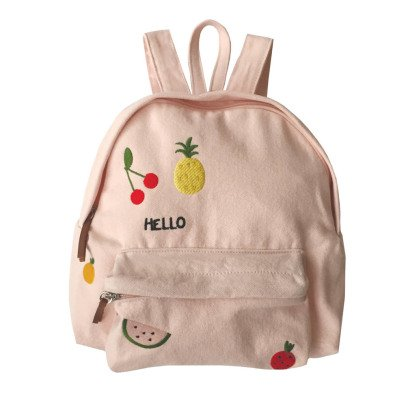 Emile et Ida Embroidered Fruit Canvas Backpack-listing