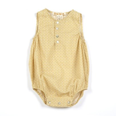 Omibia Sen Checked Organic Cotton Romper-listing