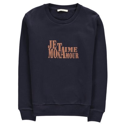 "Sessun Feliz ""Je t'aime Mon Amour"" Embroidered Sweatshirt-listing"