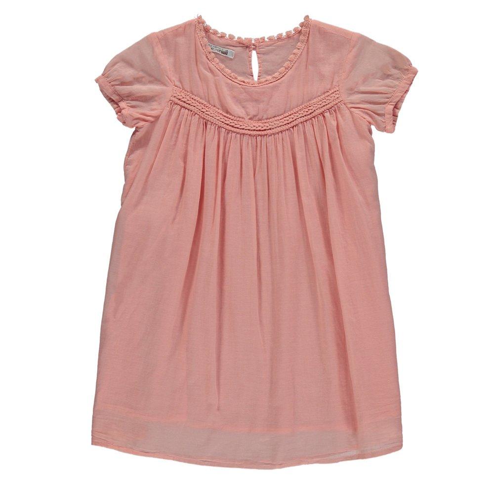 Vestido Velo de Algodón Lagoa Rosa Polvo Sunchild Moda Infantil