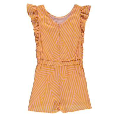 Indee Coral Ruffled Stripe Playsuit-product