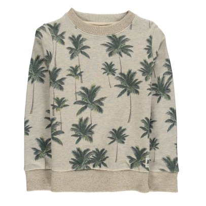 AO76 Lurex Collar Palm Tree Sweatshirt-listing