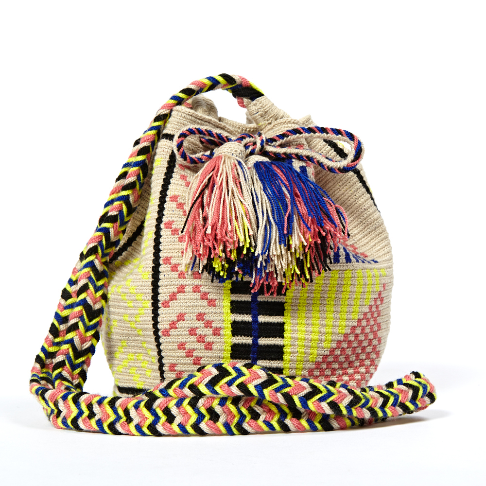 Wayuuu Striped Gua Bucket Bag Guanabana ON3OtMM