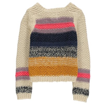 AO76 Shalimar Striped Large Knit Jumper-listing