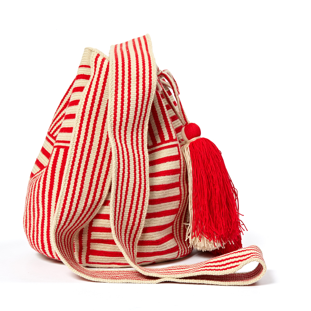 Big Wayuu Square Bucket Bag Guanabana Outlet Supply Sale Popular 9ppx7