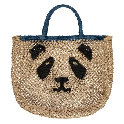 The Jacksons Panda Small Jute Shopper-listing