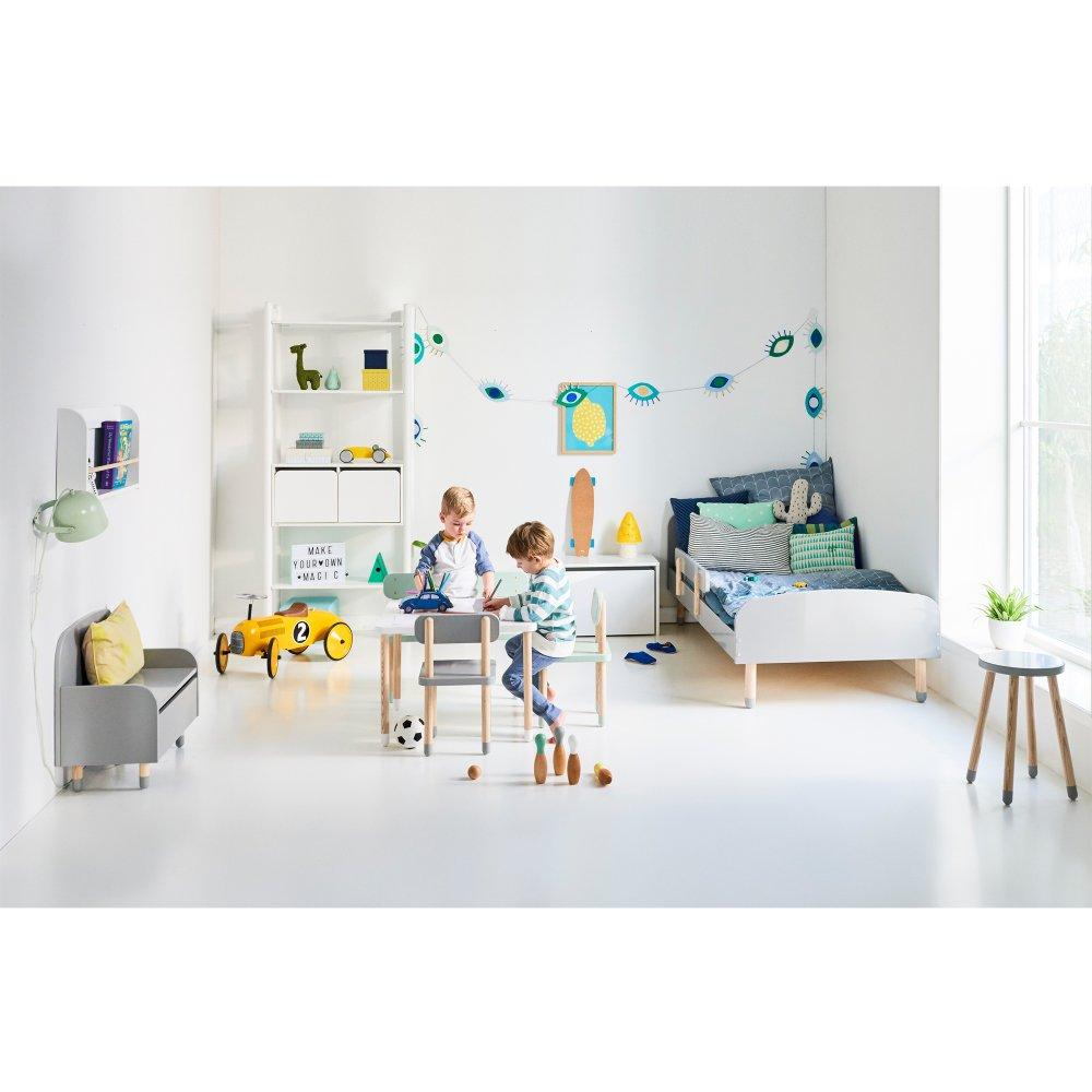 Letto singolo 90x190 Bianco Flexa Play Design Bambino