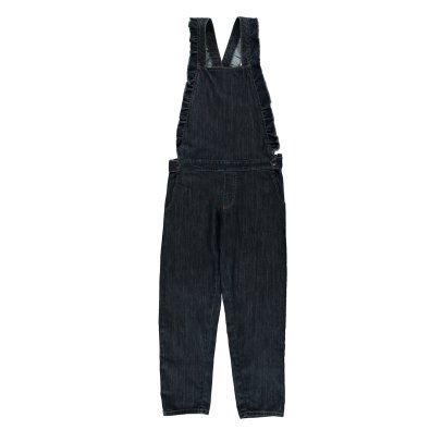 Emile et Ida Ruffled Denim Dungarees - Women's Collection-product