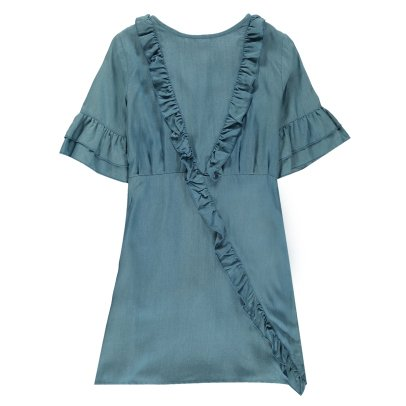 Les Coyotes de Paris Robe Volants Chambray Odina-product