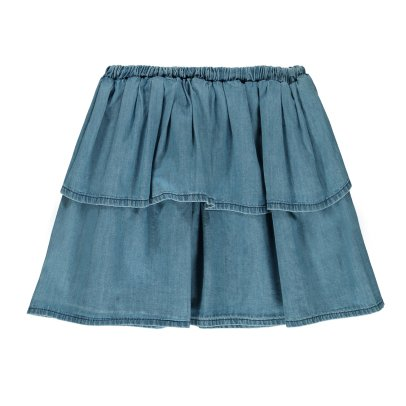 Emile et Ida Jupe Chambray Volants-product