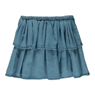 Emile et Ida Ruffled Chambray Skirt-listing