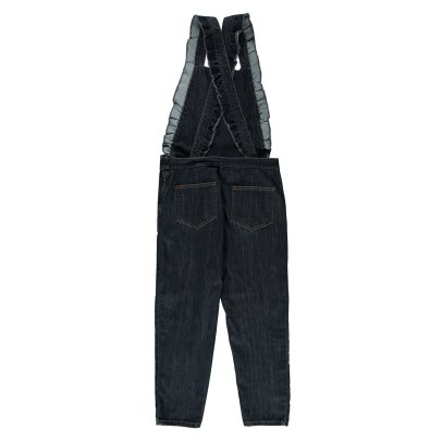 Emile et Ida Ruffled Denim Dungarees - Women's Collection-listing