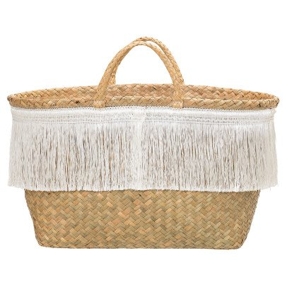 Bloomingville Fringed Basket-listing