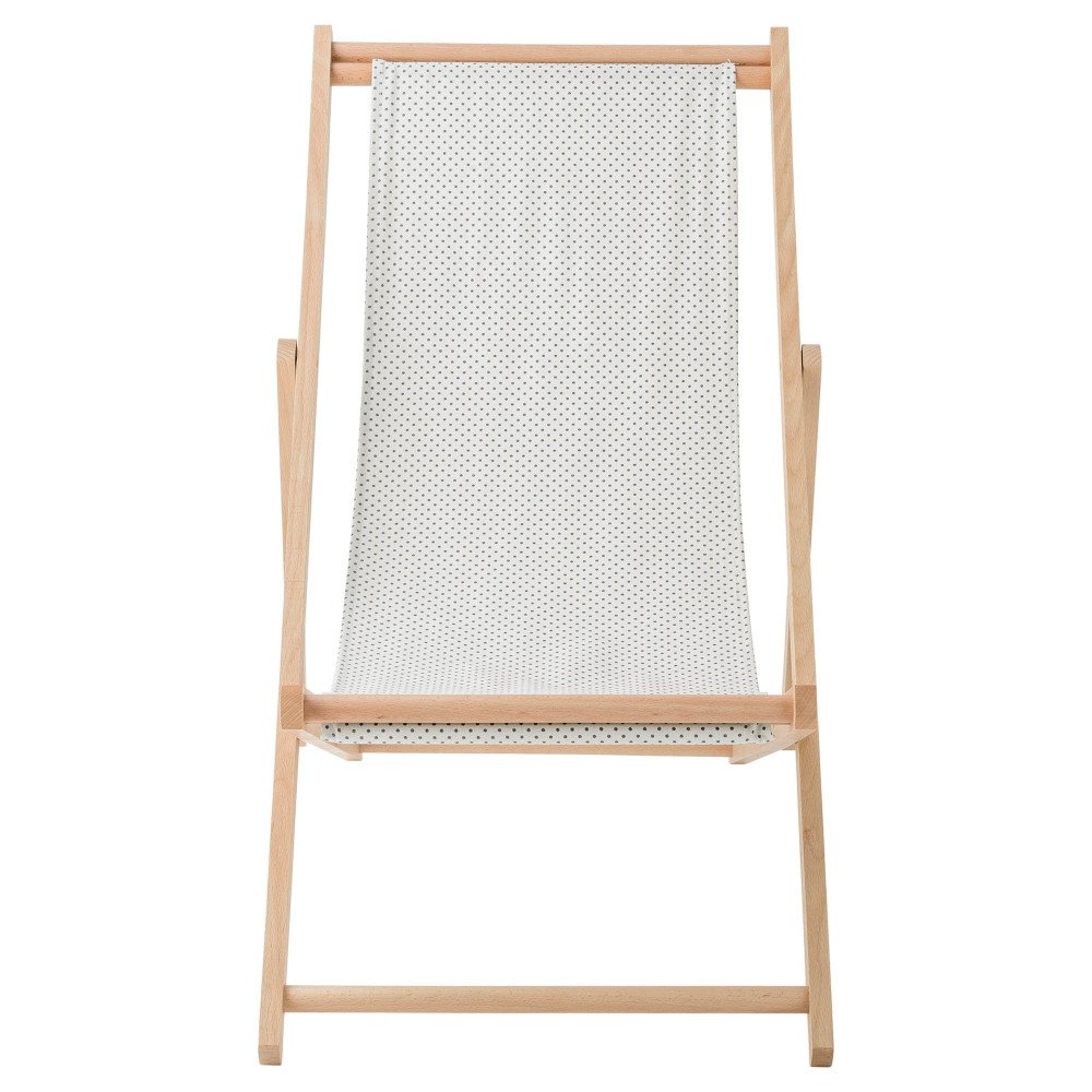 Liegestuhl design  Gepunkteter Liegestuhl Braun Bloomingville Design Erwachsene