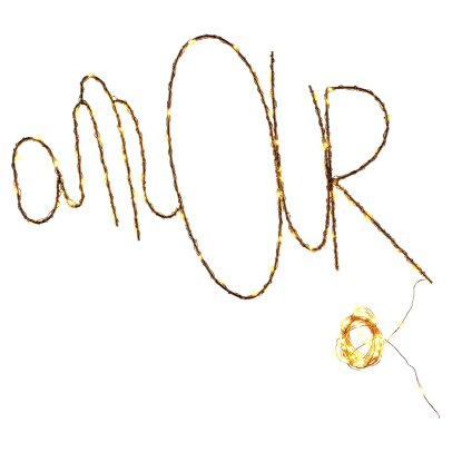 "Zoé Rumeau Zoé Rumeau x Smallable ""Amour"" Giant Word Light - 50cm LED with Copper Garland-listing"