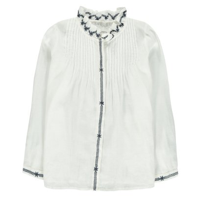 Les Coyotes de Paris Annabelle Embroidered Blouse-listing