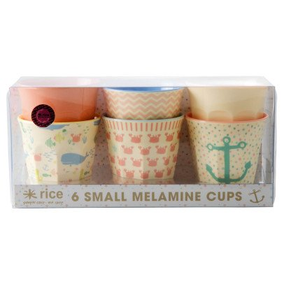 Rice Océan Assorted Print Cups - Set of 6-listing