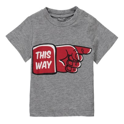 "Stella McCartney Kids Chuckle ""This Way"" Organic Cotton T-Shirt-listing"