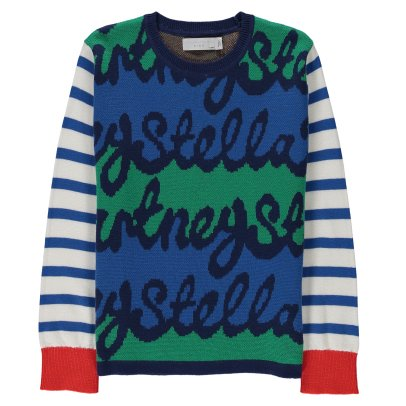 "Stella McCartney Kids Federica ""Stella"" Striped Jumper-listing"