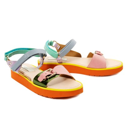 Stella McCartney Kids Snazzy Leather Sandals-listing
