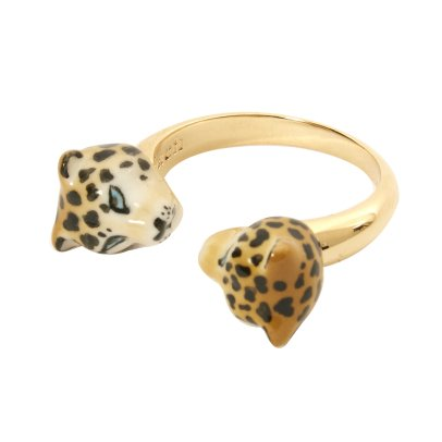 Nach Face To Face Leopard Adjustable Ring-listing
