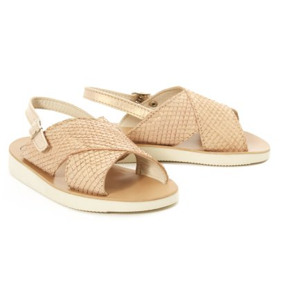 Pèpè Ecaille Leather Sandals-listing