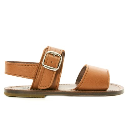 Pèpè Large Buckle Callfskin Leather Sandals-listing