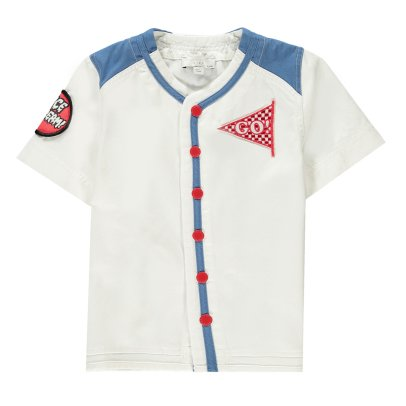"Stella McCartney Kids Camicia ""Ice Scream"" stile baseball Lexington-listing"