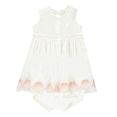 Stella McCartney Kids Abito + bloomer con conchigie ricamate Gabby -listing