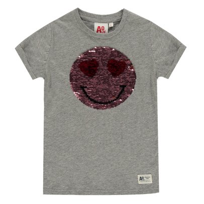 AO76 T-Shirt Smiley Réversible Sequins-product
