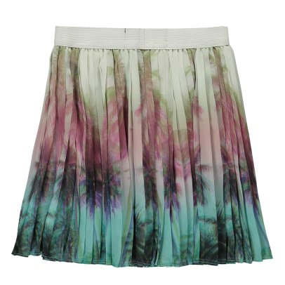 Finger in the nose Amy Palm Tree Pleated Skirt-listing
