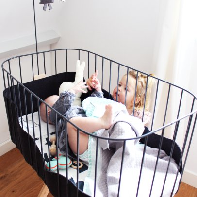 tr pied seul pour berceau suspendu blanc leander design b b. Black Bedroom Furniture Sets. Home Design Ideas
