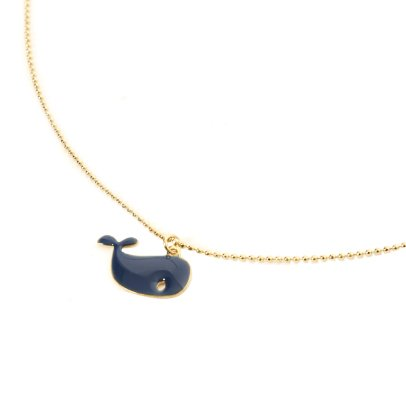 Titlee Maggie Whale Fine Gold Plated Brass Pendant-listing