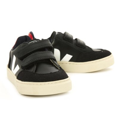 Veja V-12 Plain Velcro Cuir and Suede Trainers-listing