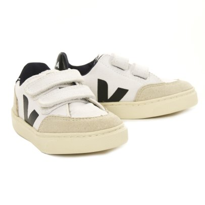 Veja V-12 Velcro Mesh and Suede Trainers-listing