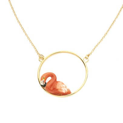 Nach Mini Flamingo Necklace-listing