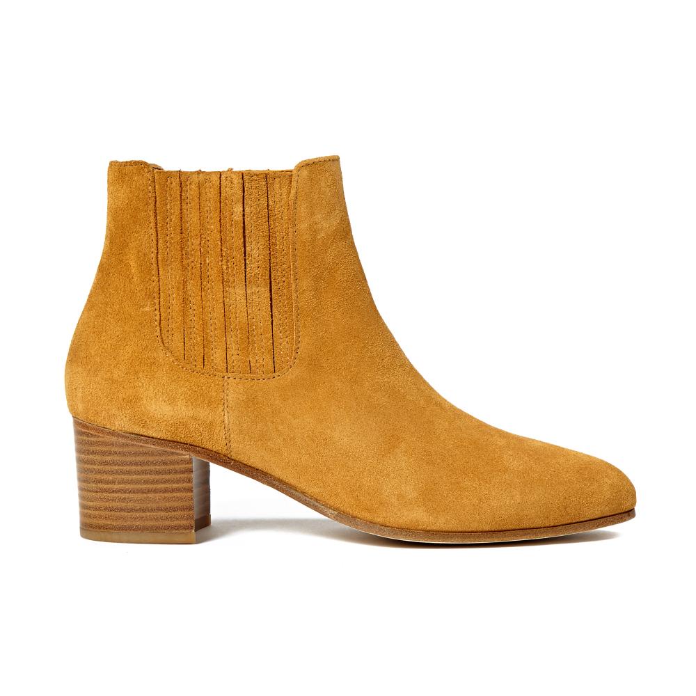 Des Images D'expédition Sessun SOLDES Boots à talons en cuir suédé Caylar miel Prix Incroyable VC2u3oNaW
