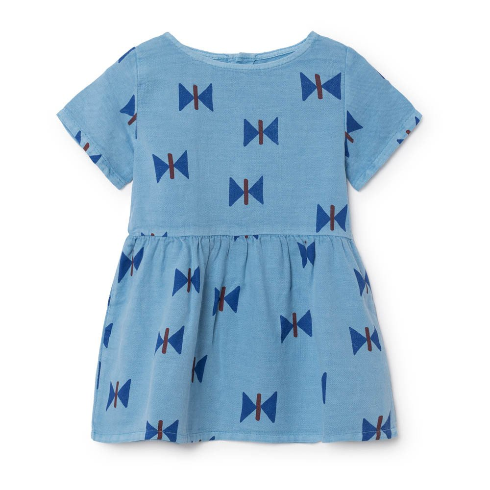Kleid blau mit schmetterlingen