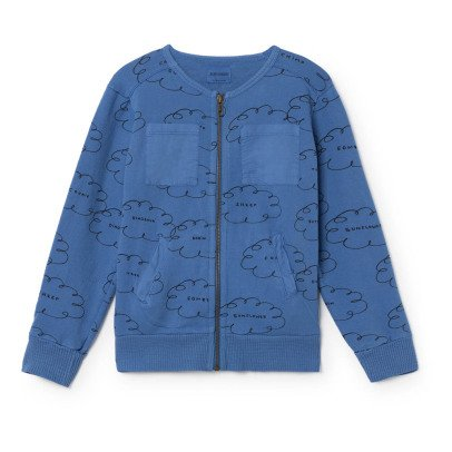 Bobo Choses Organic Cotton Cloud Zip-Up Sweatshirt-listing