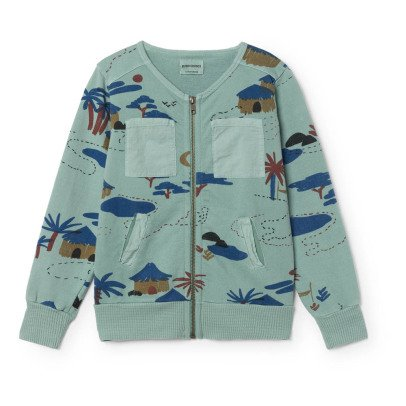 Bobo Choses Organic Cotton Village Zip-Up Sweatshirt-listing