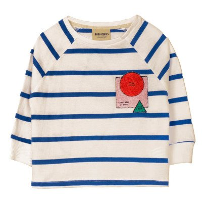 Bobo Choses Gestreiftes T-Shirt The World aus Bio-Baumwolle -listing