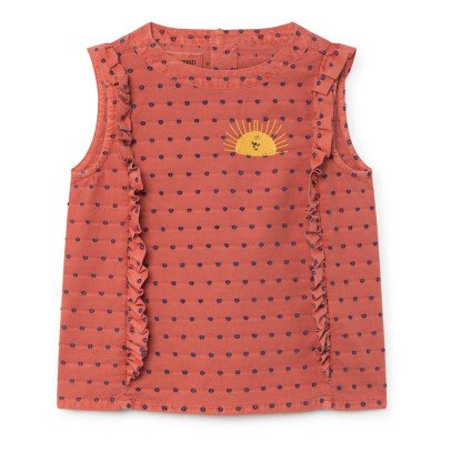 Bobo Choses Ruffled Dobby Spot Blouse-listing