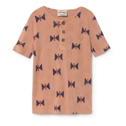 Bobo Choses Organic Cotton Butterfly Buttoned T-Shirt-product