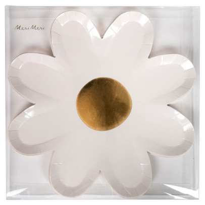 Meri Meri Assiettes en carton Daisy - Set de 12-product