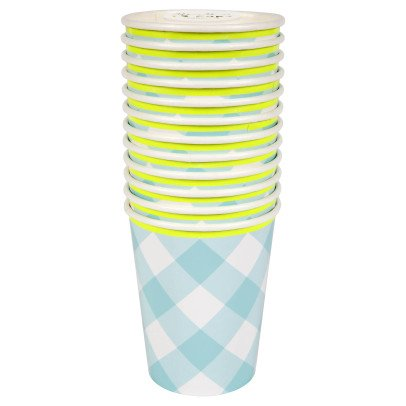 Meri Meri Gingham Paper Cups - Set of 12-listing